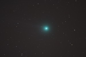 Komeet 2014 C2 Lovejoy Skywatcher 200 mm Newton-reflector, Canon EOS 1200D in primair brandpunt, ISO-1600, f/5, 1x30 seconden belichtingstijd (24-01-2015)